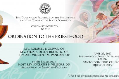 Ordination (Rev. Olivar, OP , Rev. Delos Reyes Jr., OP and Rev. Pangan, OP)