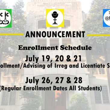 Schedule of Enrollment AY 2017-2018