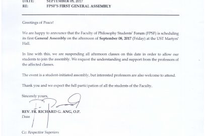 FPSF'S FIRST GENERAL ASSEMBLY