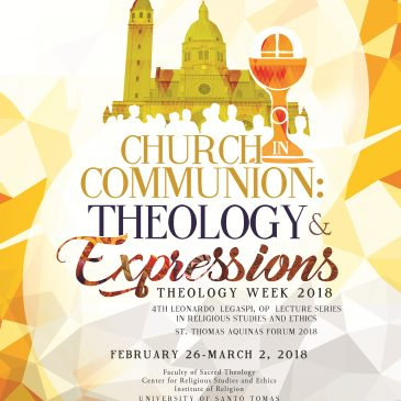 THEOLOGY WEEK 2018 CALL FOR PAPERS