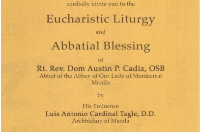 Eucharistic Liturgy and Abbatial Blessing of Fr. Cadiz