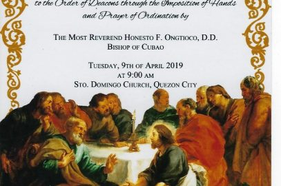 Diaconate Ordination of Br. Munsayac, OP and Br. Don, OP