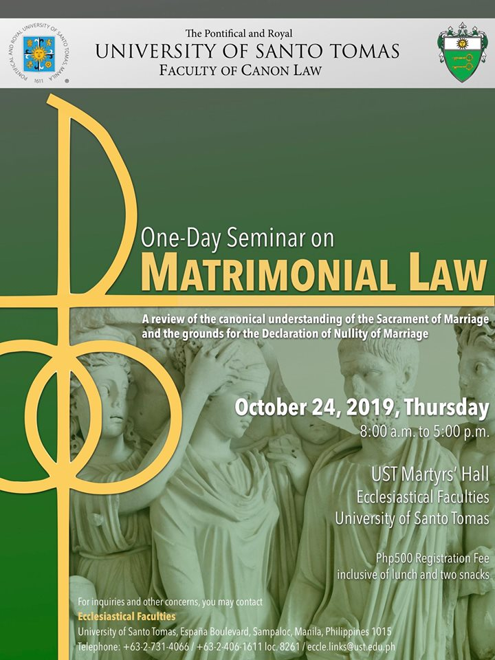 One-Day Seminar on Matrimonial Law
